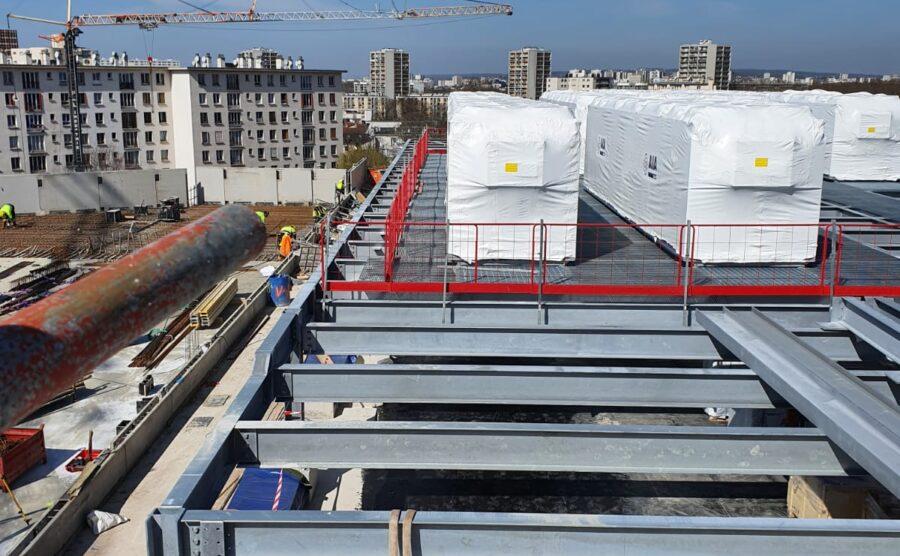 Dakconstructie 600t Paris Digital Park